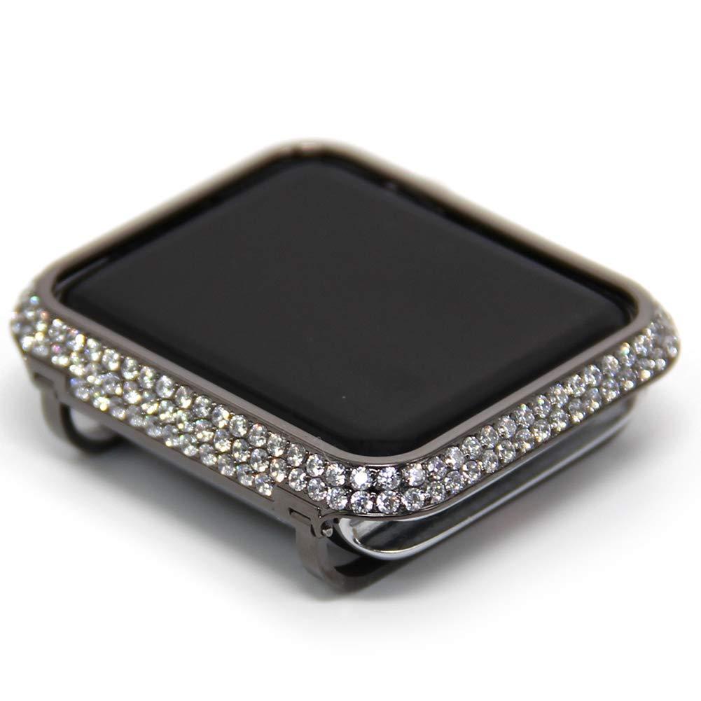 YALTOL Iwatch/Apple Watch Protection Frame with Rhinestone Diamond Metal Case Bezel for Apple Watch Series 4/3/2/1,42mm