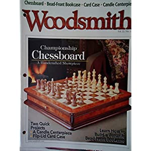 Woodsmith Magazine - December 2000, (Vol. 22 No. 132) - Championship Chessboard, Veneering Basics, Bead-Front Bookcase, Candle Centerpiece, Top Ten Router Tips, Flip-Lid Cardcase ETC. ETC.
