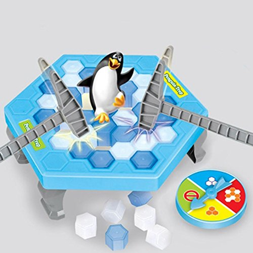 Connectors Interactive Training Table - Penguin Trap Ice Breaker Kids Puzzle Table Knock Game Save Penguin on Ice Block Family Funny Game