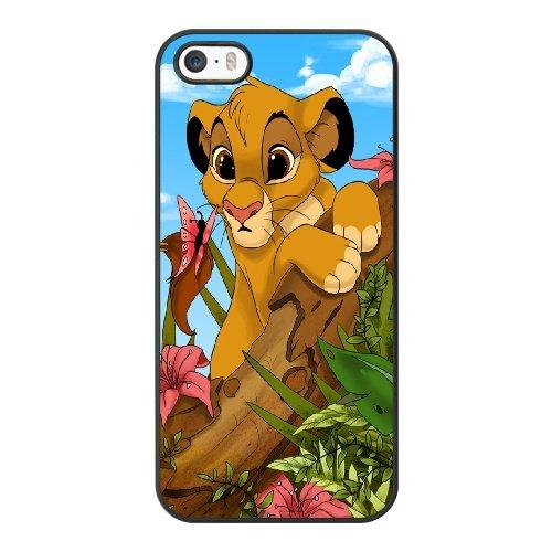 Coque,Coque iphone 5 5S SE Case Coque, Lion King Fan Art Cover For Coque iphone 5 5S SE Cell Phone Case Cover Noir