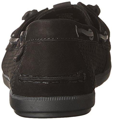 Gran sorpresa barata en línea Elección barata Sperry Top-sider Escala Bobina Hiedra Barco Relieve Zapato Negro Realmente barato en línea Z1GP4r