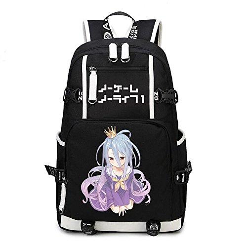 - Siawasey Anime No Game No Life Cosplay Backpack Daypack Bookbag Laptop Bag School Bag