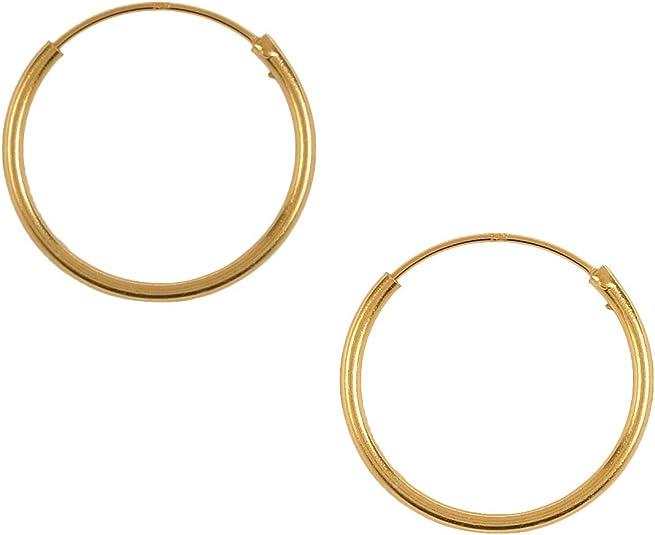 Pernille Corydon Creolen Damen Klein Gold Ohrringe 925er Sterling Silber vergoldet 2 cm E139g