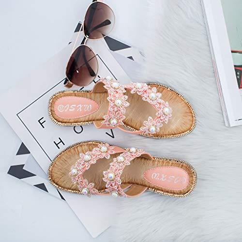Piatto Estate Sandali Clip Bohemia Beach 2019 Donne Punta Traspirante 312 Moda Casual Accogliente Rosa Per Scarpe Vovotrade Le Toe Peep Pantofole wv0qgZnH