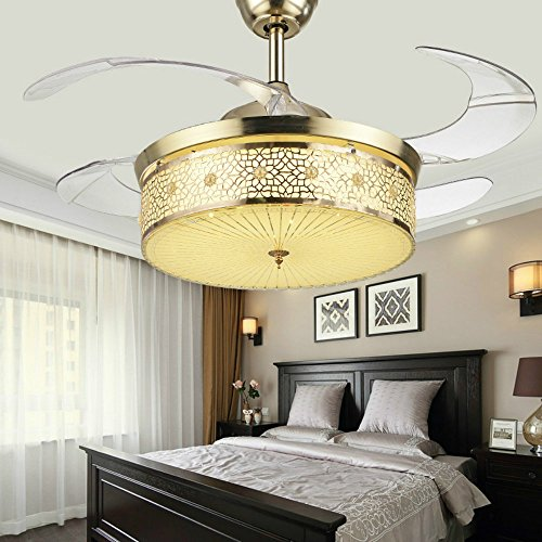 Huston Fan 36 Inch Ceiling Fan With Invisible Blades And Remote Control,Metal,Crystal (Ceil Finish Kit)