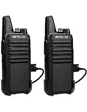 Retevis RT622 Walkie Talkie, Professional, 16 kanalen, Walkie Talkies VOX Scan Monitor met USB-oplaadkabel (zwart, 1 paar)