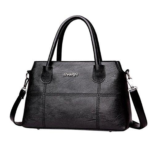 Logobeing Bolsos Mujer Baratos Bolso de Cuero Bolso Bandolera Crossbody Tote Bag Oferta Bolso Mujer A