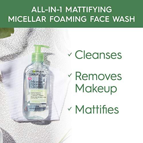 Garnier SkinActive Micellar Foaming Face Wash, For Oily Skin, 6.7 fl oz 3
