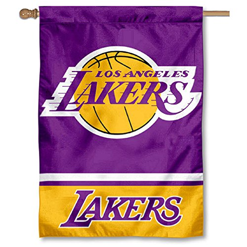 LA Lakers Two Sided House Flag