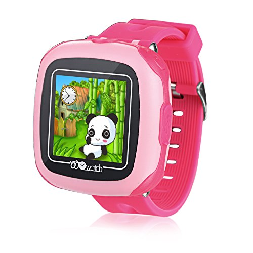 Kids Game Smartwatch DX Toy, 10 Games Touch Screen Camera Pedometer Timer Alarm Stop Watch Health Monitor for Girls (Pink) (Halloween In Times Square 2017)