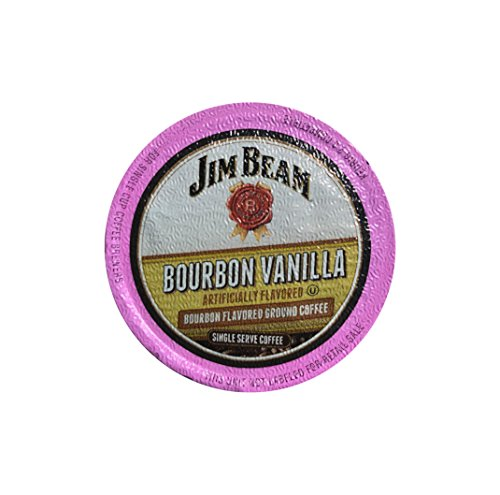 Jim Beam Bourbon Vanilla Single Serve Coffee, 18 cups, Keurig 2.0 (Bourbon Vanilla Pods)