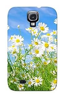 New Daisies Field Tpu Case Cover, Anti-scratch Trinalgrate Phone Case For Galaxy S4