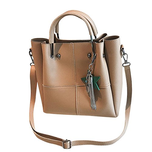 PU Halijack Bag Leather Modern 2 Crossbody Khaki Clearance Shoulder Bags Handbag Pcs Hanle Zipper Shoulder Women Bags Messenger Bag Lightweight Casual Tote Ladies Classic Sale Top zZwqFz