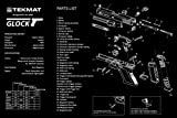 Ultimate Arms Gear Glock Pistol Handgun Gunsmith & Armorer's Large Exploded Poster 24 '' x 36 '' Cleaning Work Tool Bench Gun Wall Decoration Hang Up Print Picture Photo Military Weapon Schematics Diagram for Assembly and Disassembly