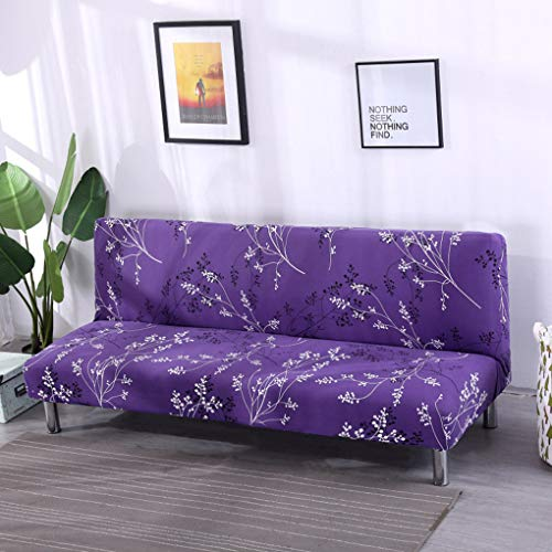 Price comparison product image XZ Sofa Bed Cover Armless Stretch Fabric Slipcovers Seater Couch Protector,  Easy to Wash Printing No Arms Futon Cover, 1