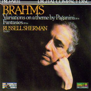 Price comparison product image Brahms: Variations on a Theme By Paganini,  Op. 35 / Fantasies,  Op. 116