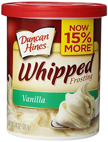 Duncan Hines Whipped Frosting, Vanilla, 14 Ounce