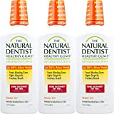 The Natural Dentist Healthy Gums Antigingivitis Mouthwash, Orange Zest, 16.9 Ounce Bottle (Pack of 3), Alcohol-Free Mouthwash for Daily Use, Treats Bleeding Gums and Fights Gingivitis, 20% Aloe Vera