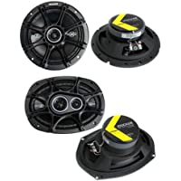 2) Kicker 41DSC674 6.75 240W 2-Way + 2) 41DSC6934 6x9 360W 3-Way Car Speakers