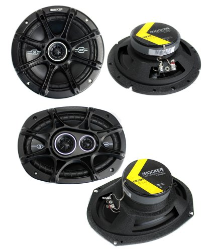 "2) Kicker 41DSC674 6.75"" 240W 2-Way + 2) 41DSC6934 6x9"" 360W 3-Way Car Speakers"