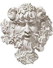 Design Toscano Bacchus, vinets gud: Bladmask, väggskulptur