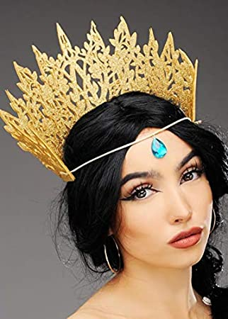 Magic Box Womens Gold Glitter Fantasy Elf Reina Corona con Joya: Amazon.es: Juguetes y juegos