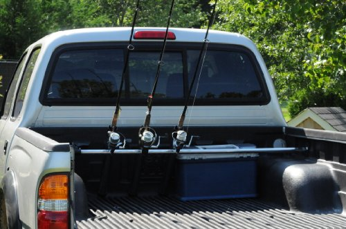 Portarod inshore 3 rod holder fishing rod holder for Fishing pole rack for truck