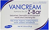 zinc bar - Vanicream Z-Bar - medicated cleansing bar for sensitive skin - maximum OTC strength zinc pyrithione 2% - helps relieve itching, redness, and flaking - 3.36 ounce