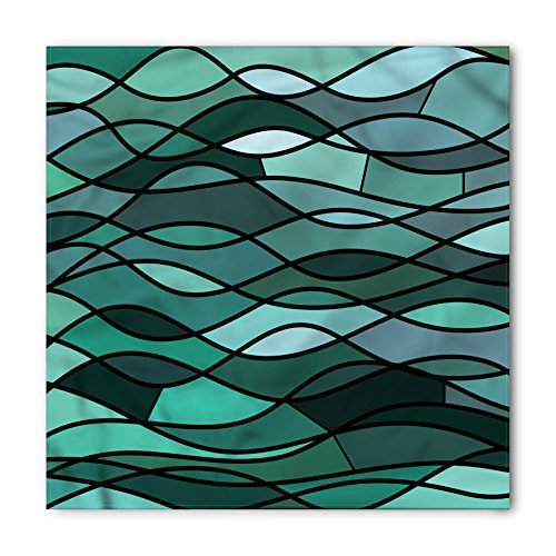 Ambesonne Unisex Bandana, Teal Mosaic Sea Waves Inspired, Green Aqua ()