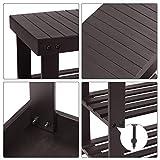 SONGMICS 3-Tier Bamboo Shoe Rack Bench, Shoe