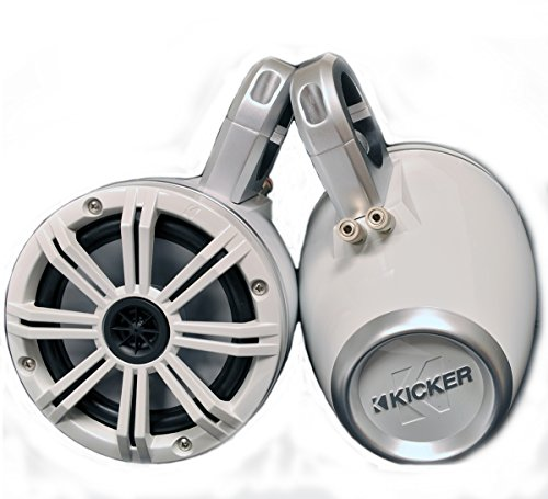 White Kicker Wake Tower System with Kicker 6.5