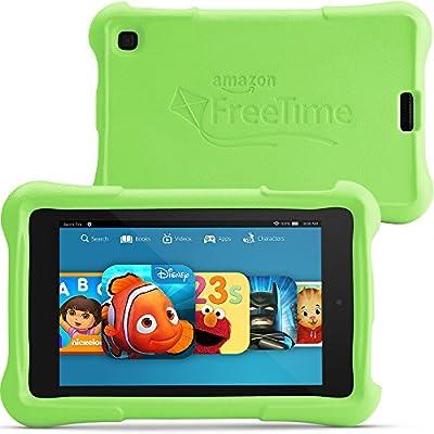 """Fire HD 6 Kids Edition, 6"""" HD Display, Wi-Fi, 8 GB, Green Kid-Proof Case"""