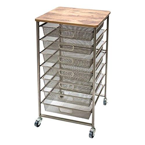 Tim Holtz Idea-ology Signature Design Industrial Storage Cart, 33.5'' x 15.75'' x 15.75'' (CH93520) by Tim Holtz Idea-ology