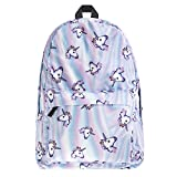 SWYIVY Lightweight 3D Unicorn School Backpack Shoulder Bag Bookbag for Teens Girls