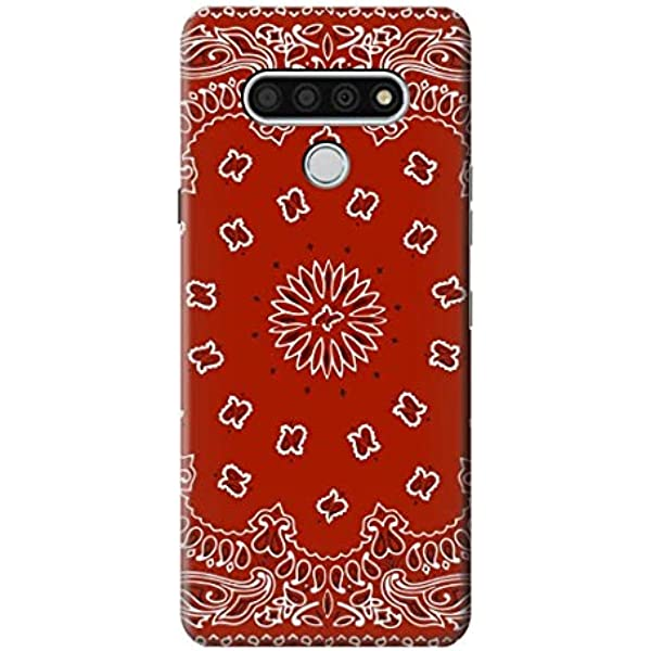 TPU Phone Case Cover for LG Stylo 6,Red Ribbon Blue Satin Satin Red Ribbon Print,Design in USA