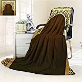 AmaPark Digital Printing Blanket Middle Ramadan Greeting Scroll Arch Figure Celebration Holy Eid Theme Summer Quilt Comforter