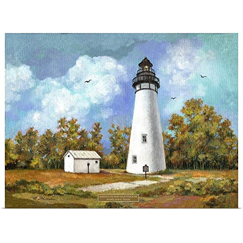 - GREATBIGCANVAS Poster Print Entitled Amelia Island Lighthouse by Betty Whiteaker 40