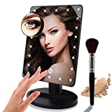 Vanity Set with Mirror and Lights Lighted Makeup Mirror,LED 10x Magnifying Makeup Mirror with Lights 180 Degrees Rotating Touch Screen