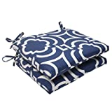 Pillow Perfect Excelente cojín, Contemporáneo, Carmody Navy, 18.5 in. L X 16 in. W X 3 in. D, 1