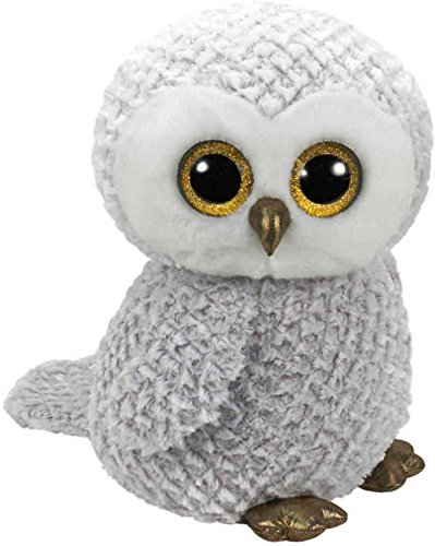 Ty 36840 Owlette - Glitter Eye Pink Owl White 42 cm - Superb All Round Hanger - Great, Glub Sliding Beanie Boo's by Ty