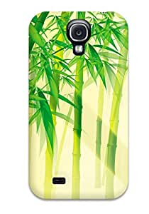 Tpu Case Cover For Galaxy S4 Strong Protect Case - Bamboo Design