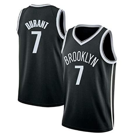 big sale 42150 f75bd A-lee Men's Brooklyn Nets #7 Kevin Durant Jersey Black City ...