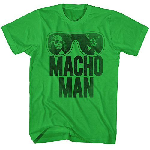 American Classics Macho Man Men's Ooold School T-Shirt Green 2XL