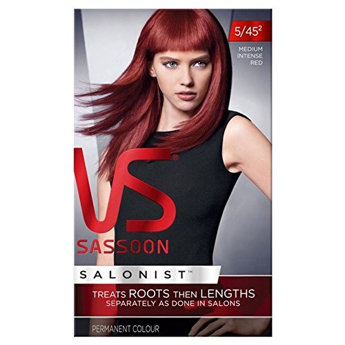 Vidal Sassoon Hair Dye Medium Intense Red 5/45 (PACK OF 6)