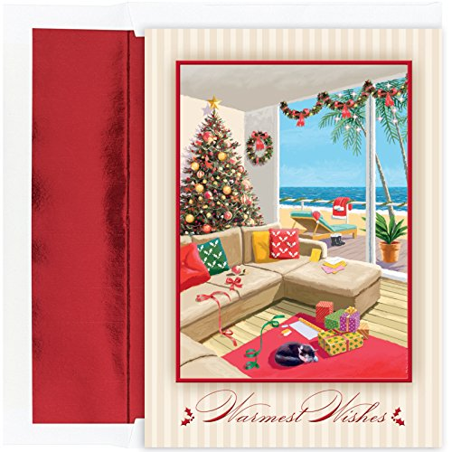 UPC 662790990116, Warmest Wishes Christmas Morning at the Beach 18 Boxed Christmas Cards