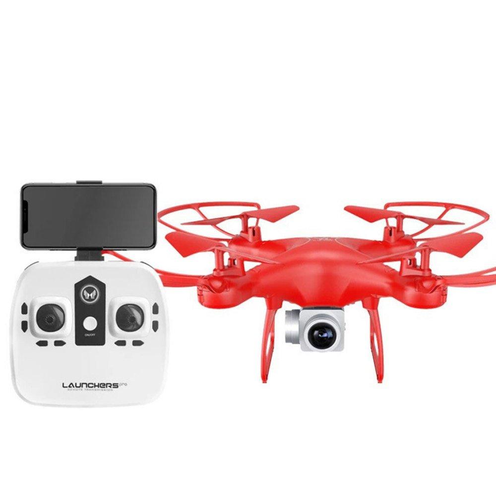 KYOKIM Fernbedienung und Handy-App-Steuerung Drohne Synchron-Übertragung Luftaufnahmen 27  27  11cm Flugzeit: 20 Minuten und Fernbedienung Entfernung: 50 Meter,ROT