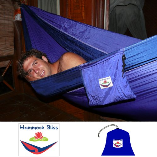Hammock Bliss Double – XL Portable Hammock – 100″ Rope Per Side Included – Ideal For Camping, Backpacking, Kayaking and Travel, Outdoor Stuffs