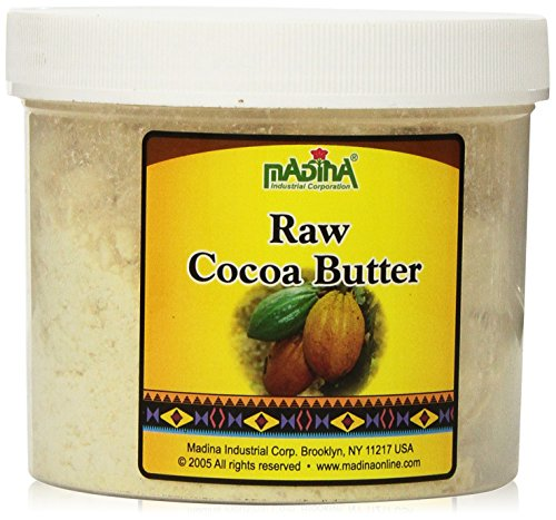 RAW Cocoa Butter 1 Lb by madina (Cocoa Butter Edible)