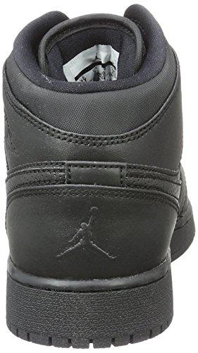BG Chaussures NIKE Jordan Basketball Air 1 de Enfant Mixte Schwarz Mid Noir q6RX6I