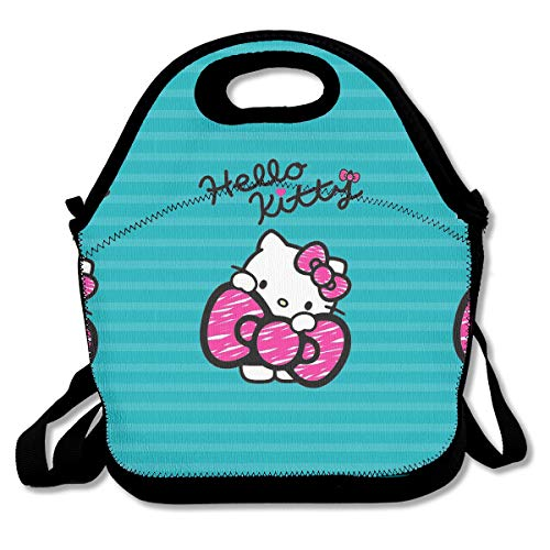 Meirdre Lunch Box Kawaii Hello Kitty Insulated Personalized
